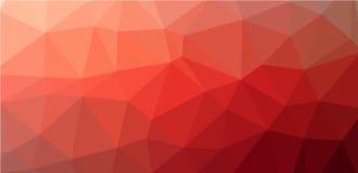 红色低多角形背景 库存照片