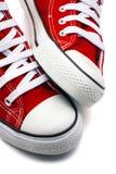 红色体育的鞋子 免版税库存图片
