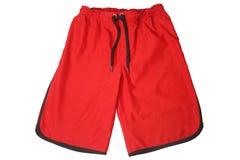 红色体育短裤 免版税图库摄影