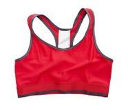 红色体育胸罩 免版税库存照片