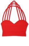 红色体育胸罩 免版税图库摄影