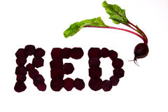 红色作为甜菜 免版税库存图片