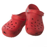 红色便鞋 免版税库存照片