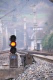 红色信号培训 免版税库存图片