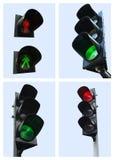 红色信号灯 库存照片