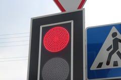 红色信号灯 库存图片
