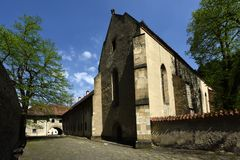 红色修道院教会,斯皮地区,斯洛伐克 免版税库存图片