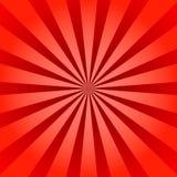 红色光芒海报星爆炸 免版税库存图片