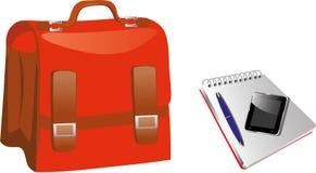 红色公文包 免版税图库摄影