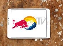 红色公牛电视商标 库存图片