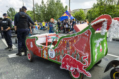 红色公牛肥皂箱布加勒斯特2014年 库存照片