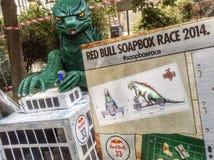 红色公牛肥皂箱种族2014年在都灵 免版税图库摄影