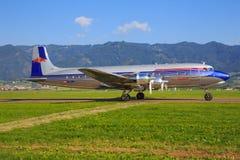 红色公牛道格拉斯DC-6B 库存照片