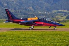 红色公牛阿尔法喷气机 免版税库存照片