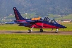 红色公牛阿尔法喷气机 库存图片