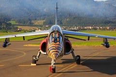 红色公牛阿尔法喷气机 库存照片