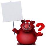 红色公牛- 3D例证 免版税库存照片