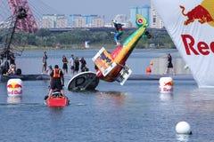 红色公牛Flugtag天26 07 2015年在莫斯科 免版税图库摄影