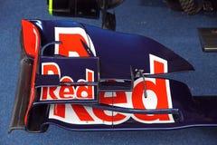 红色公牛RB7赛车 库存图片