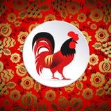 红色公鸡例证 库存图片