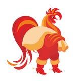红色公鸡 免版税库存图片