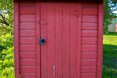 红色农厂棚子 免版税库存照片