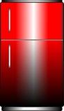 红色冰箱 免版税库存照片