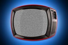 红色减速火箭的电视 免版税库存照片