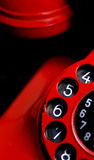 红色减速火箭的电话细节 免版税库存照片