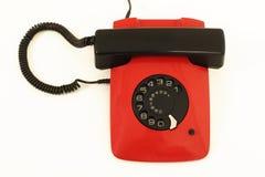 红色减速火箭的电话 库存图片