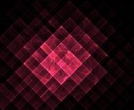 红色几何分数维 免版税库存照片