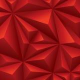 红色几何背景。多角形背景。 免版税库存照片