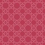 红色几何装饰品 无缝的模式 库存照片