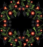 红色分行的花 图库摄影