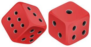 红色切成小方块 向量例证