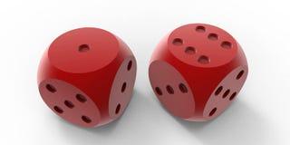 红色切成小方块 免版税库存图片