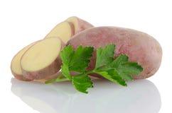 红色切的土豆 库存照片