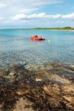 红色划艇 库存照片