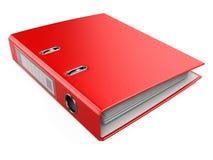 红色办公室文件夹圆环包扎工具 免版税库存图片