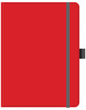 红色办公室笔记本 皇族释放例证