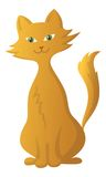 红色动画片猫 库存图片