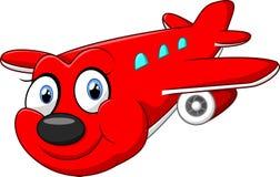 红色动画片飞机 库存照片