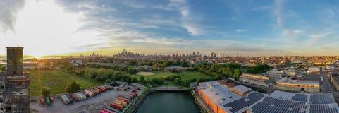 红色勾子五谷终端-布鲁克林,纽约 库存照片