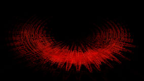 红色半圆摘要 库存照片