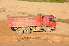 红色卡车 免版税库存图片