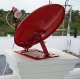 红色卫星盘 库存照片
