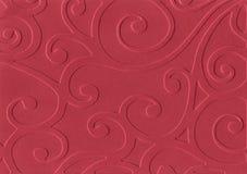 红色压印的纸张 图库摄影