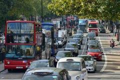 红色双层公共汽车,伦敦 免版税库存图片