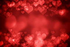 红色发光的情人节背景 库存例证