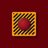 红色发射按钮 向量例证